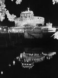 St. Angelo Castle Reflecting in the Tiber River Photographic Print by  Bettmann