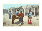 Santo Domingo Pueblo Trading Post, New Mexico Prints