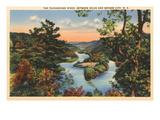 Tuckaseigee River, Bryson City, North Carolina Prints