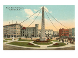 Obelisk in Town Square, Asheville, North Carolina Prints
