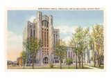 Masonic Temple, Detroit, Michigan Poster