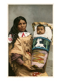Menominee Indian Woman with Papoose Posters