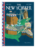 The New Yorker Cover - January 9, 2012 Regular Giclee Print by Bruce McCall