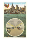 Tunnel to Windsor, Detroit, Michigan Print