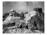 View of Mount Rushmore in Progress Giclee Print by  Bettmann