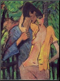 Lovers Mounted Print by Otto Mueller