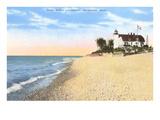 Faro di Point Betsie, Frankfort, Michigan Poster