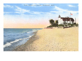 Point Betsie Lighthouse, Frankfort, Michigan Premium Giclee Print