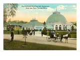 Greenhouse, Belle Isle, Detroit, Michigan Print