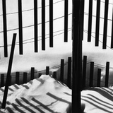 Fence in Snow, 1972 Fotografie-Druck von Brett Weston