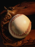 Baseball and a Pitcher's Mitt Photographic Print by Ed Eckstein