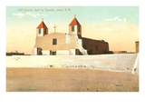 Old Church, Isleta Pueblo, New Mexico Posters