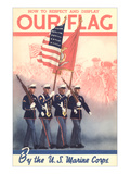 USMC Color Guard Print