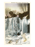 Winter, Minnehaha Falls, Minneapolis, Minnesota Posters