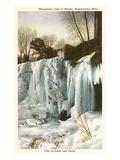 Winter, Minnehaha Falls, Minneapolis, Minnesota Posters