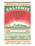Program from Caliente Racetrack Prints
