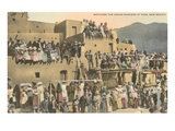 Taos Pueblo Indian Dances, New Mexico Print