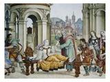 Detail of Saint John the Evangelist Reuscitating Druisana Premium Giclee Print by Filippino Lippi
