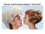 Hair Dye Advertisement, Retro Print
