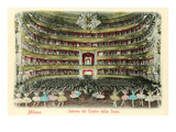 Interior, La Scala Opera House, Milan, Italy Poster