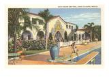 Swimming Pool, Agua Caliente, Tijuana, Mexico Poster