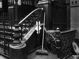 Stairway With Broom, Manhattan, 1945 Photographic Print by Brett Weston