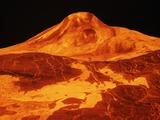 Volcano on Venus Photographic Print