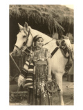 China Poblana in Native Garb with Horse, Mexico Print