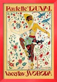 Paulette Duval and Vaceslv Svoboda Dance Posters by Georges Barbier