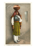 Isleta Pueblo Woman, New Mexico Poster