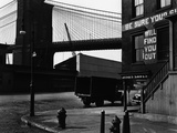 Street Corner Near the Brooklyn Bridge Photographic Print by Brett Weston