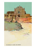 Mission at Laguna Pueblo, New Mexico Poster