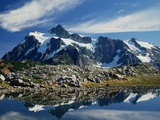 Mountain Reflection on a Lake Photographic Print by Charles Mauzy