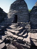 Monks' Beehive Huts at Skellig Island Monastery, Ireland Photographic Print by Michael St. Maur Sheil