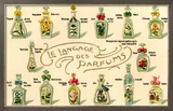 French Perfume Language Framed Giclee Print