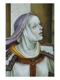Detail of Druisana from Saint John the Evangelist Reuscitating Druisana Premium Giclee Print by Filippino Lippi