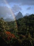 Rainbow near Petit Piton Photographic Print by Bob Krist