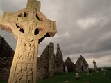 Stone Cross at Monastic Center Photographic Print by Bob Krist