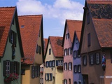 Row Houses in Dinkelsbuhl Photographic Print by Wolfgang Kaehler
