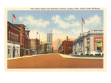 Post Office, Battle Creek, Michigan Posters