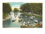 Grand Canal, Belle Isle, Detroit, Michigan Prints