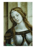 Detail of Young Woman from Saint John the Evangelist Reuscitating Druisana Giclee Print by Filippino Lippi