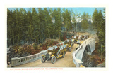 Chittenden Bridge, Yellowstone Park, Montana Prints