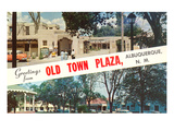 Greetings from Old Town Plaza, Albuquerque, New Mexico Posters
