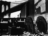 Cable Spools Below the Brooklyn Bridge, Manhattan, 1944 Photographic Print by Brett Weston
