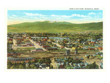 View over Missoula, Montana Art
