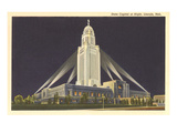 Night, State Capitol, Lincoln, Nebraska Poster