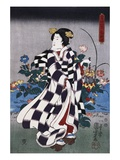 Japanese Print of a Woman Possibly by Yoshitoshi Giclee Print by Stefano Bianchetti