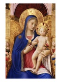 Gold Leaf Painting of Madonna and Baby Giclee Print by S. Vannini