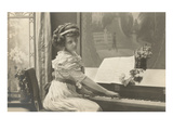 Girl at Piano Posters